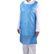Disposable PE Aprons on Roll (200) - White, blue