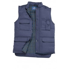 Navy Blue Polycotton Lined Multi Pocket Bodywarmer S,M,L,XL,2XL,3XL,4XL
