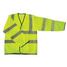 S473 Hi Vis Yellow Long Sleeve Vest En471-3.2