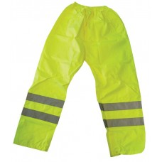 Hi Vis Yellow En471 Waterproof Overtrouser S,M,L,XL,XXL