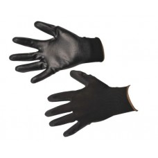 Black Knitted Nylon Glove with PU Grip Coating