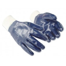 HD Blue Nitrile Fully Coated Knit Wrist Glove