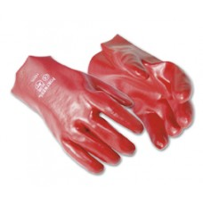 Red PVC 11 Open Cuff Glove size 9.5