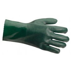 Green Double Dipped PVC 14 Gauntlet size 10