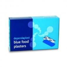 Dependaplast Blue Foodsafe Assorted Plasters x100