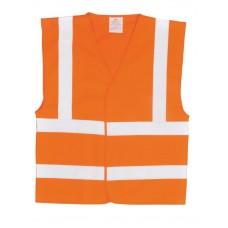 Orange Hi Vis En471 Waistcoat size S,M,L,XL,XXL,XXXL