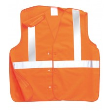 Rail Industry Anti Tangle Hi Vis Orange Vest GO/RT3279
