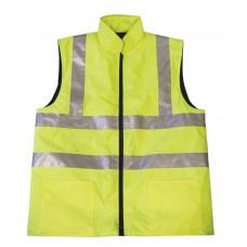 Hi Vis Yellow En471 Reversible Bodywarmer S,M,L,XL,XXL