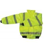 Yellow Hi Vis En471 Bomber Style Jacket S,M,L,XL,XXL,XXXL
