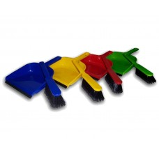 Colour Coded Dustpan & Soft Hand Brush Set