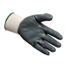 Knitted Nylon Glove with Grey Foam Nitrile Coating