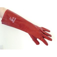 Red PVC 18 Gauntlet size 10