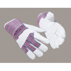 Heavy Duty Grey Leather Power Style Rigger Glove