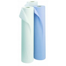 """Blue/White 2 ply 10"""" Hygiene Wiping Roll (x18)"""