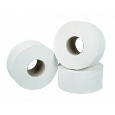White 2 ply Mini Jumbo 76mm core Toilet Roll 150 metre (x12)