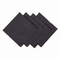 Black 24cm Cocktail Napkins x2000
