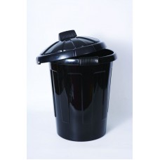 Black PVC 80 Litre Dustbin with Lid